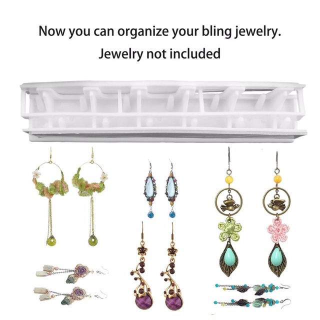 Adhesive Jewelry earring necklace hanger holder Organizer packaging