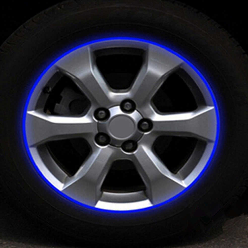 3m reflective tape car motorcycle rim stripe 16 17 wheel decal stickers car accessories car