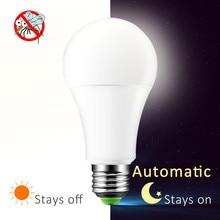 hot deal buy a60 led light bulbs 220v 110v dusk to dawn sensor lights bulb e27 b22 smart lighting lamp auto on/off indoor outdoor lighting