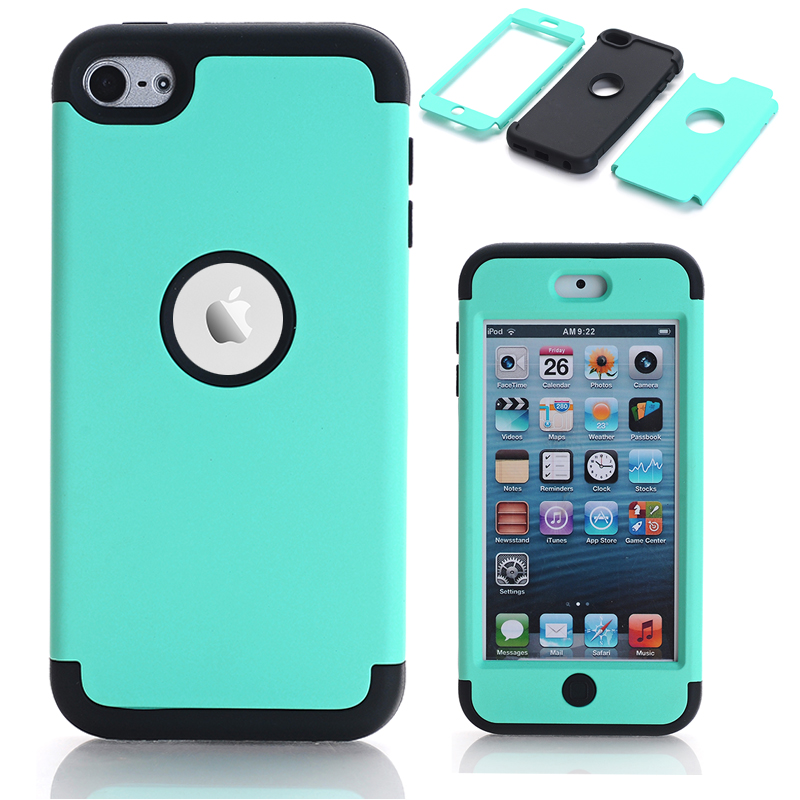 sale retailer 1ecb5 484c6 US $3.94 21% OFF Case For Apple Case iPod Touch 6 Hybrid Hard Impact &  Silicone Phone Cases Fundas w/Screen Protector Film+Stylus Pen Gifts-in  Fitted ...