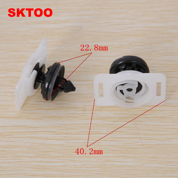 SKTOO 10pcs For Volkswagen Golf Touran Suteng Maiteng Kai Di Audi door buckle door lining clipboard interior trim board buckle