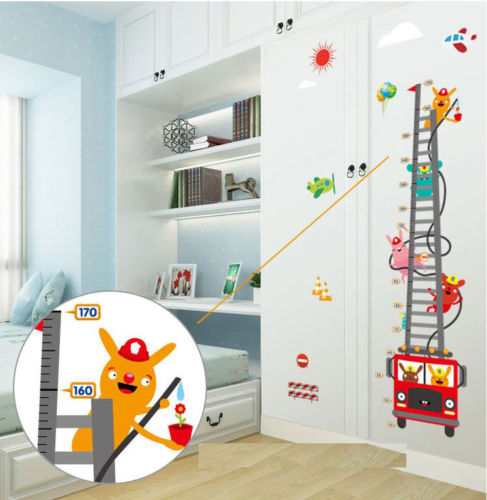 Fire Truck Ladder Height Chart S Room Wall Sticker Vinyl Decal Nursery Decor Diy In Stickers From Home Garden On Aliexpress Alibaba Group