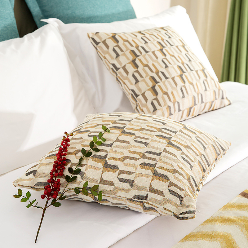 High Quality Pillow Case Hotel Bedroom Big Cushion Cover 45x45cm Chenille Jacquard Pillowcase For Sofa Car Party Decor 30 60 in Cushion Cover from Home Garden