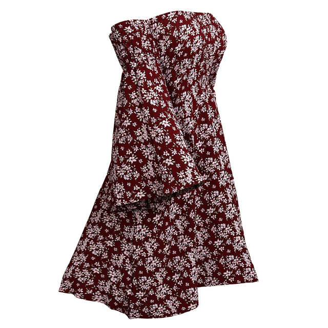 e75aa66b1a898 US $18.35 49% OFF|Aphrodite Home 2018 Women Dresses Trumpet Sleeves Sexy  Off Shoulder Print Summer Dress Casual Short Beach Party Dress Girl Red-in  ...