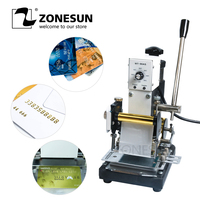 ZONESUN 220V/110V Manual Hot Foil Stamping Machine Card Tipper Embossing Machine For ID PVC Colourful VIP Plastic Cards