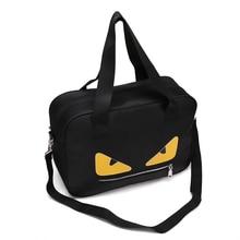 цена на Small Monster Handbag Women's One-Shoulder Fitness Bag Travel Luggage Tourist Bag Large-capacity Travel Bag