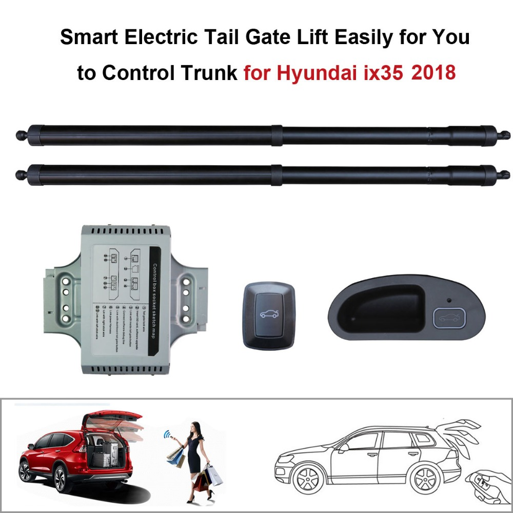 Car Electric Tail Gate Lift For Hyundai IX35 2018 With Latch Function Set Height Avoid Pinch