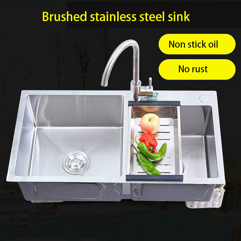 ITAS9929 kitchen sink double single bowl stainless steel drain basket thicken durable brushed Washing dishesITAS9929 kitchen sink double single bowl stainless steel drain basket thicken durable brushed Washing dishes