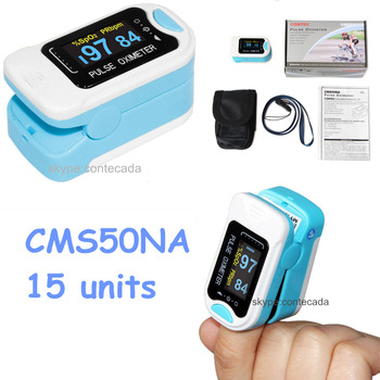15 Units Finger Tip Pulse Oximeter SPO2 PR Meter Blood Oxygen Saturation Monitor Tester Home Care CMS50NA CE Saturation