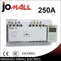 250A 4 poles 3 phase automatic transfer switch ats with English controller
