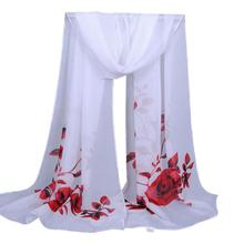 Scarves Flower Printing Long Women Shawl Scarves Ladies Girls Soft Wrap Scarf Autumn and winter 160cm Chiffon Scarves