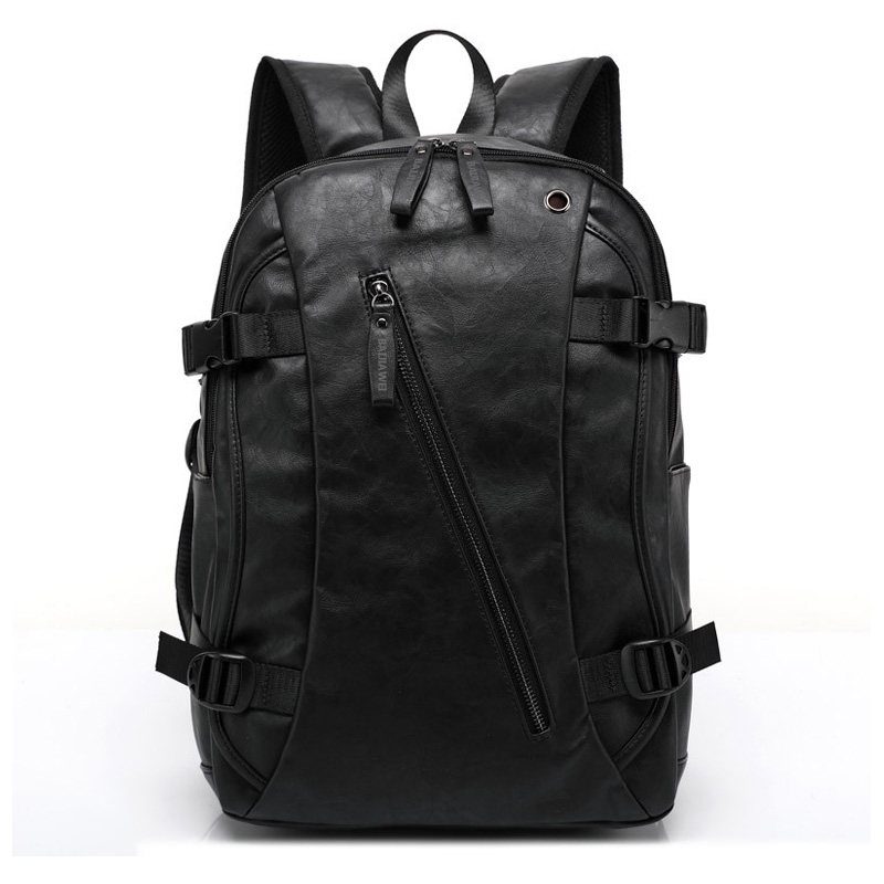 Baijiawei Men Pu Patent Leather Backpacks Men's Fashion Backpack & Travel Bags Western College Style Bags Mochila Feminina #4