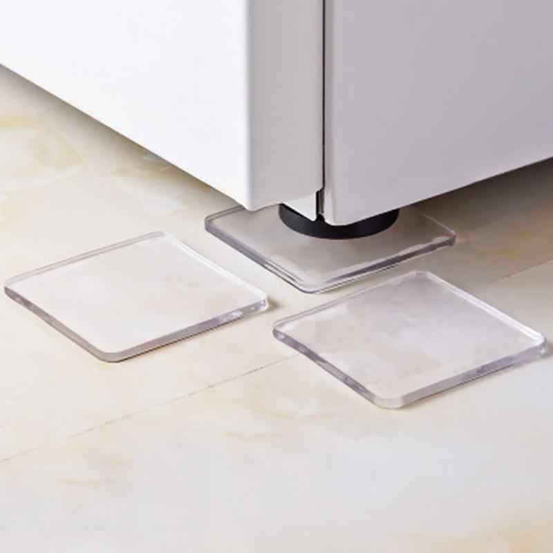 4 шт./компл. прозрачная стиральная машина силиконовый коврик Портативный Анти Вибрационный нескользящий коврик амортизирующий коврик