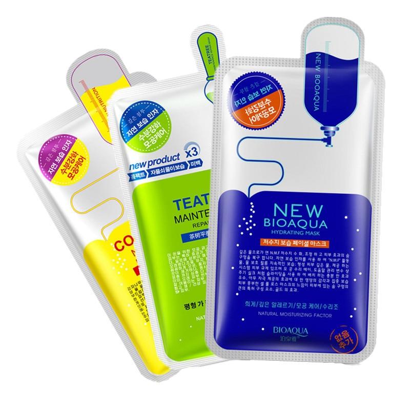 Skin Care Hyaluronic Acid Women Face Masks Moisturizing Oil Control Natural Essence Collagen Whitening Facial Mask Tender