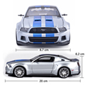 Maisto 1:24 Aleación Modelo de Coche Ford Mustang Juguetes Colección Funde y Automóviles de Juguete Juguetes Para Niños de Regalo