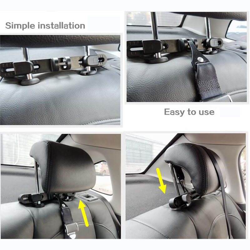 Youwinme ISOFIX Latch Connector Car Baby Child Safety Seat Belts Headrest Mount Interfaces Guide Bracket Holder