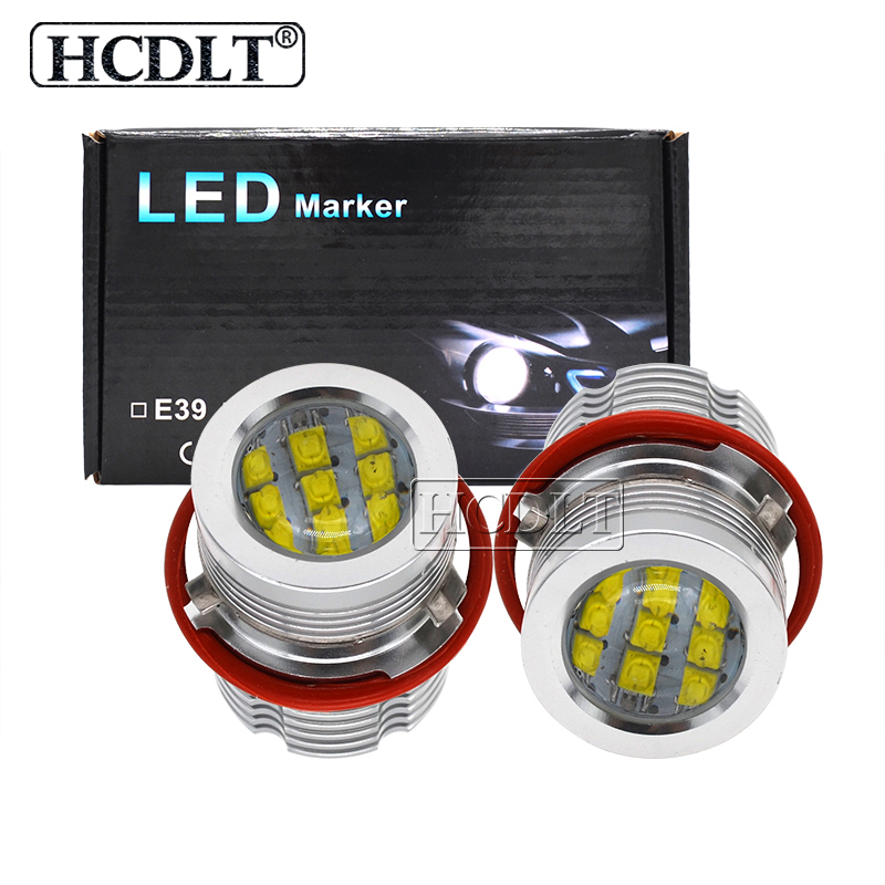 HCDLT Error Free LED Angel Eyes 60W White Yellow Red Blue Car Light For B M W E39 E53 E63 E83 X3 E87 X5 E60 120W LED Marker Kit-in Car Light Accessories from Automobiles & Motorcycles