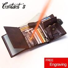 Casual Genuine Leather Wallet Men Passport Holder Coin Purse