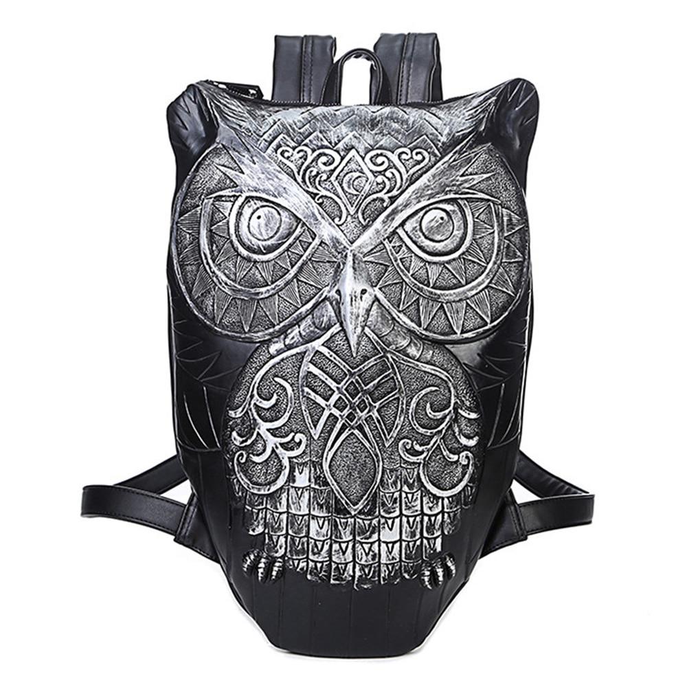 2018 New Arrival Europe American Animal Design Backpack The Owl Daypack Men Women Cool Mochila Shoulder Bag