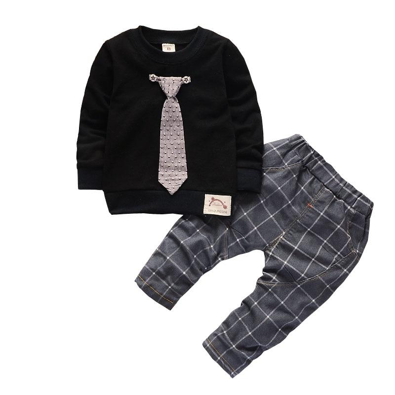 3a479ce7f96ef Achat Garçon Vêtements 1 2 3 Ans Bébé Nouveau Né Vêtements Pour Enfants  Définit Printemps Automne Bébé Vêtements Chemises Pantalons Overals 2 pcs  enfants ...