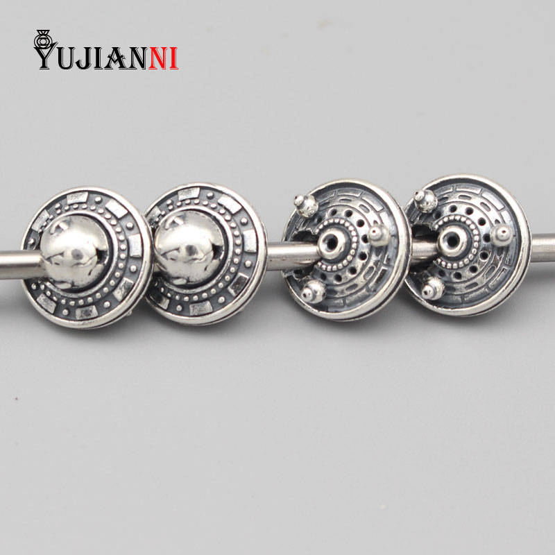 1:1 925 Silver UFO Beads for DIY Jewelry Making 4.5mm Hole Charm Fits European Original OHM Troll Bracelet & Necklace new language leader pre intermediate coursebook