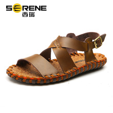 Hot sale Genuine Leather Men Sandals Fashion Summer Shoes Men Slippers Special design Men's Sandals Causal Shoes Leather