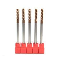 5PCS HRC60 6mm Solid Carbide Endmills ENDMILL D6X30XD6X100L 4 Flute Standard Length Side milling Slotting Profiling face mill Milling Cutter