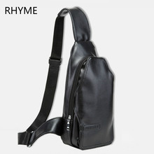 RHYME Hot Vintage Men PU Leather Satchel Casual Cross Body Bag Messenger Shoulder Bag New Fashion Man Crossbody Bag