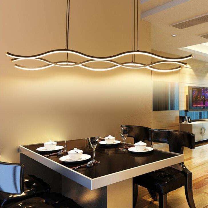 Modern Wave Pendant Light For Office Meeting Room Dining Lighting Led High  Brightness Creative Lamp HOME Restaurant Lamp