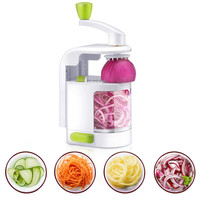 New Multifunction 4 In 1 Vegetable Cutter Fruit Slicer Cutting Onions Stainless Steel Blades Salad Meat Garlic Cutter Chopper