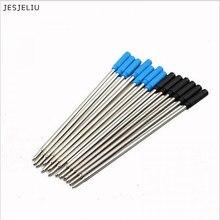 Recarga de tinta para caneta esferográfica, 10 peças de refil cor preta e azul, útil