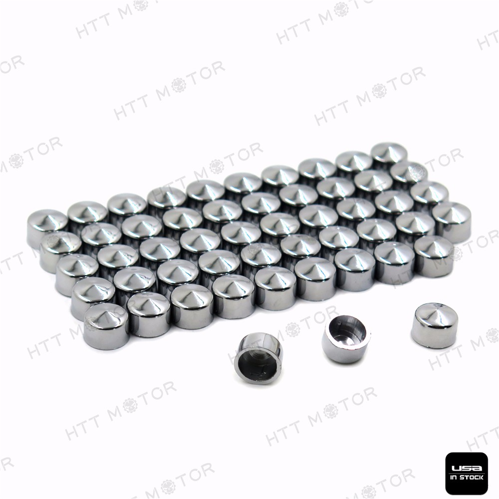 Aftermarket free shipping Motorcycle parts 52PCS Chrome Bolt Cap Topper Cover Nut for 2004-2015 Harley Sportster Engine chrome bolt topper cap cover nut kit fits for harley softail twin cam 2000 2006