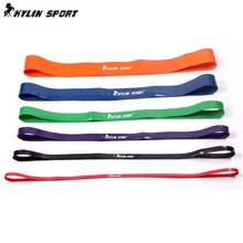 Free Shipping Nature Pure Latex resistance bands 6 size fitness power training strength loop pull up bands rubber expander(China)