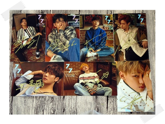 signed GOT7 GOT 7 autographed photo 7 FOR 7 6 inches free shipping 7 photos set 3 versions 102017 got7 got 7 youngjae kim yugyeom autographed signed photo flight log arrival 6 inches new korean freeshipping 03 2017