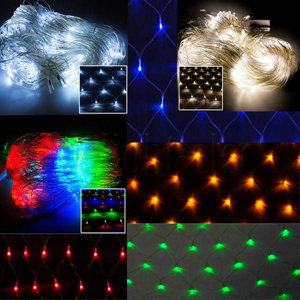 1.5 * 1.5m 120 LED Net garland string light Christmas Holiday Party Garden Square luminaria decoration lamps lighting outdoor