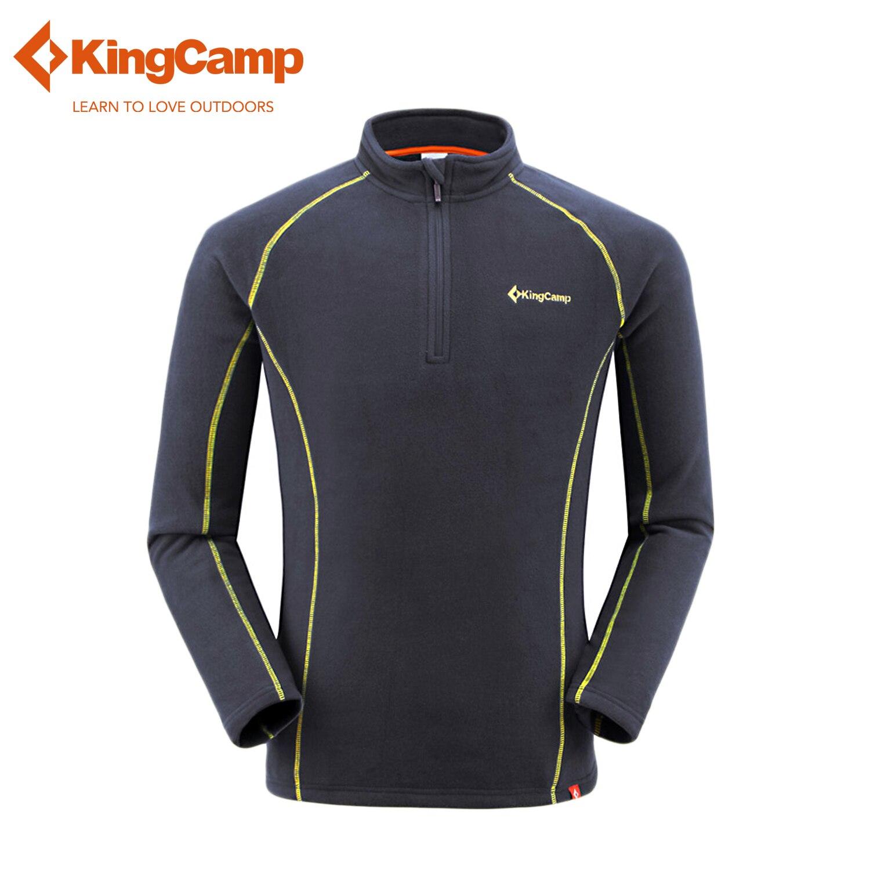 KingCamp Men's Winter Fleece Jacket Outdoor Soft Sweater Male Thicken Sport Fleece Coat For Camping Hiking