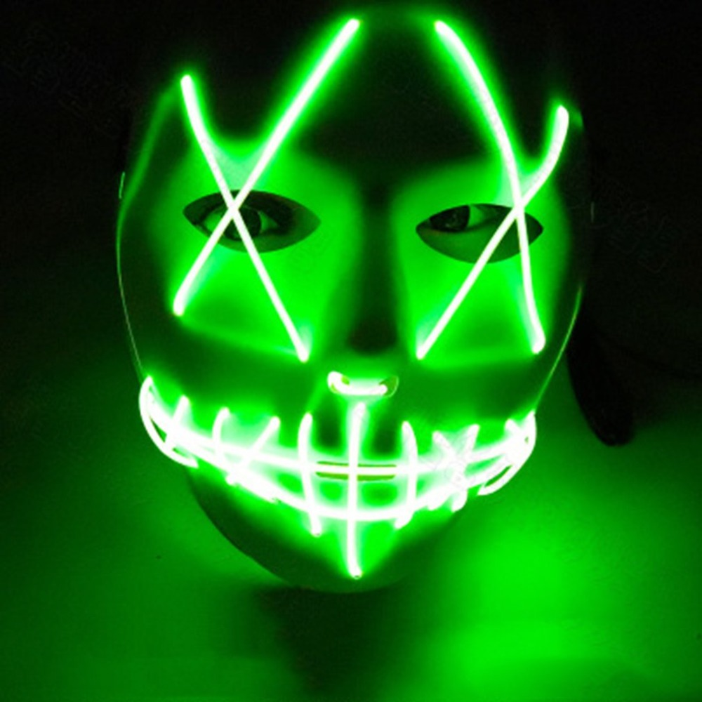 Halloween Mask Led Masks Glow Scary Mask Light Up Cosplay Mask Glow In Dark For Festival Music Party Costume Christmas Fancy Colours Novelty & Special Use