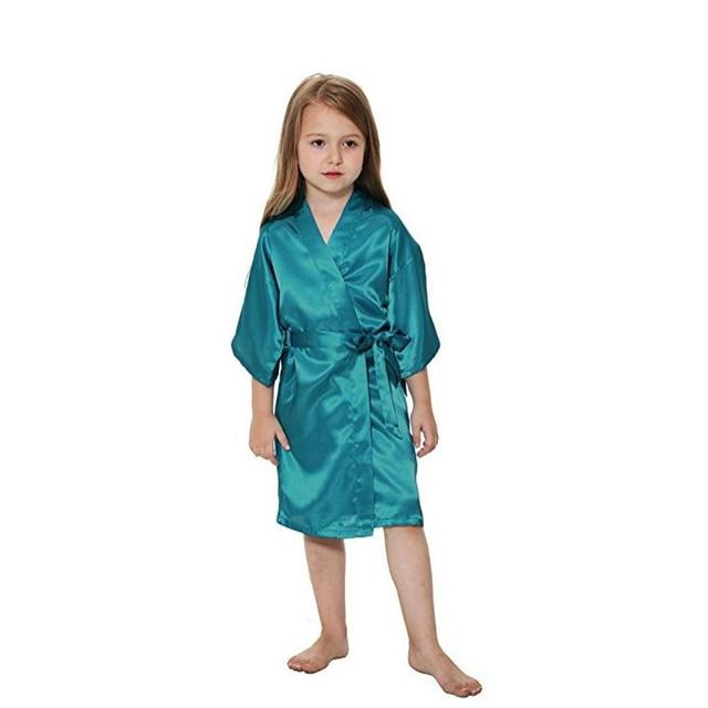 Kids  Satin Rayon Kimono Robe Bathrobe For Spa Party Wedding Birthday Kids  Flower Girl Wedding Stain robes NightGown bathrobe aed33b262