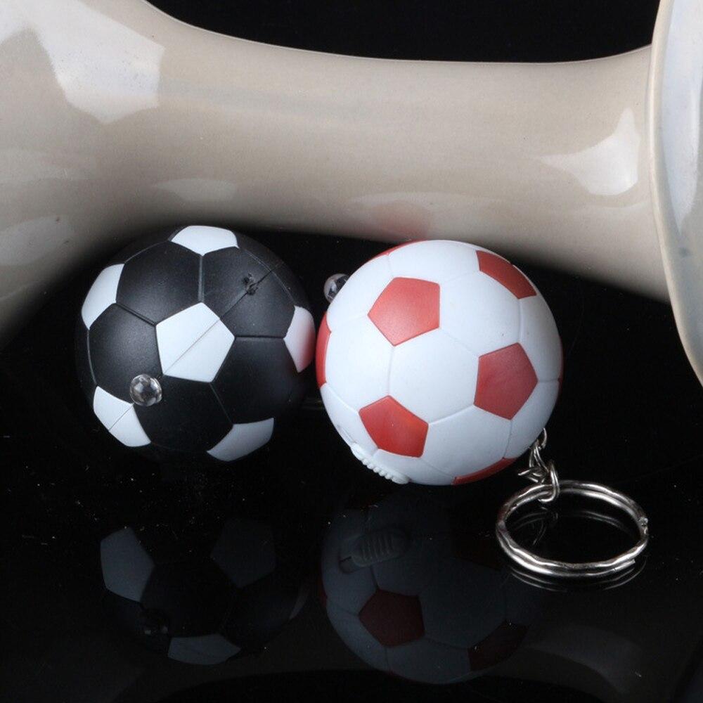 FREE SHIPPING 100pcs/lot LED Key Ring Baseball Led Key Chain Flashlight 3.5*3.5CM Creativity Promotional gifts