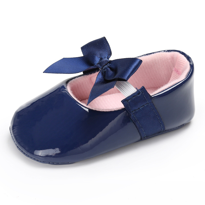 Cute Bow Baby Girls Dress Shoes Brand Sequin PU Leather 12 Colors Baby Moccasins Prewalkers Princess Ballet Shoes