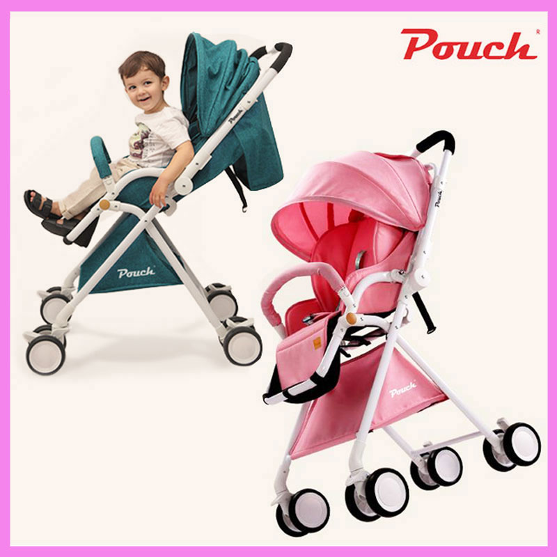 Pouch Four Wheels Travel Baby Stroller High Landscape Portable Can Sit Lie Lightweight Summer Folding Baby Carriage Pram 0~3 Y luxury baby stroller high landscape baby carriage for newborn infant sit and lie four wheels