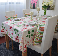 free shipping Cotton table cloth pastoral coffee table cloth tablecloths flowers