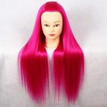 26inch Rose Red Hair Dummy Maniqui Mannequin Head Hairstyles Training Styling Mannequins Manikin Manequin
