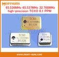 Fast Ship Livre 3 pçs/lote 65.536 MHz 65.537 MHz 32.768 MHz high-precision TCXO 0.1 PPM temperatura-compensação oscilador de cristal