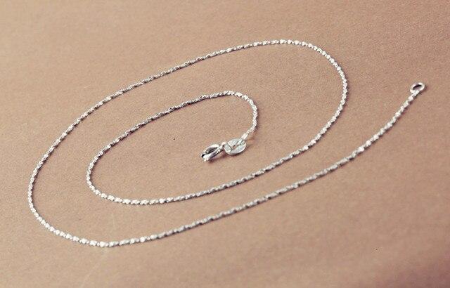 8 estilos 925 prata esterlina colar colar de prata esterlina corrente diy clavícula colar jóias
