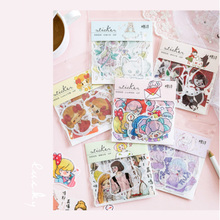 40pcs/lot New 1903 Girl Series Sticker Cartoon Mini Diary Handmade Paper Label Sealing Decoration