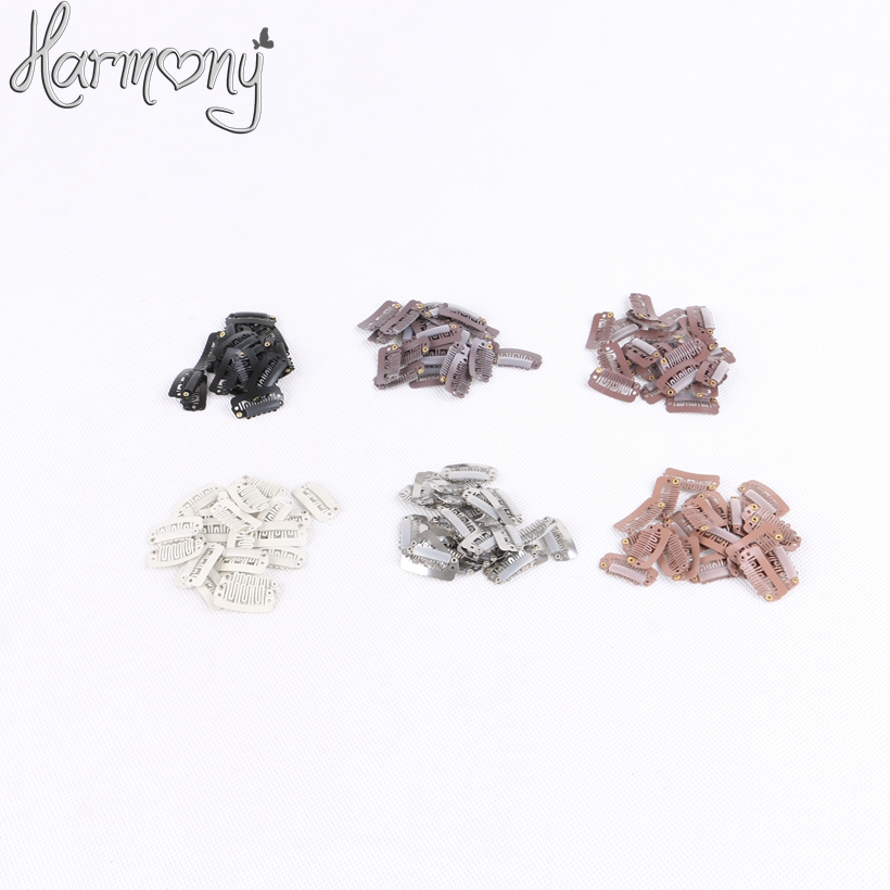 Free shipping!! 500 pieces/bag 2.8cm 6 teeth U shape small hair extension snap clips 6 colors for your choices