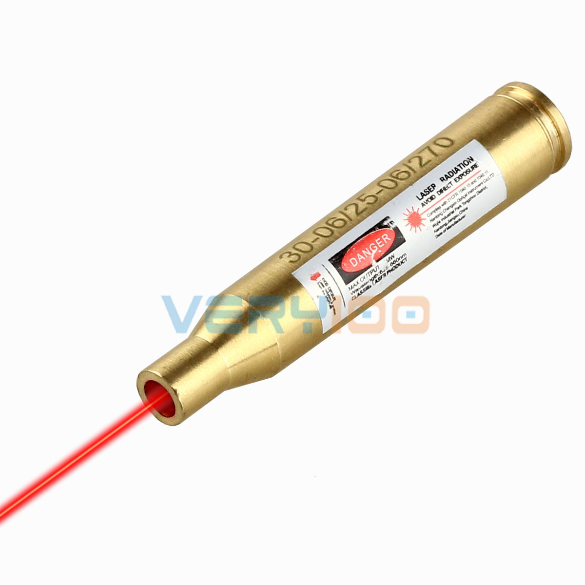 Red Laser Sight Bore Sighter Boresighter Hunting .270 30-06 25 Caliber Cartridge