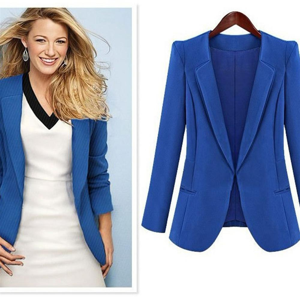 2018 Autumn Fashion Women Blazers Solid Color Slim Waist Female Jacket V-neck Small Label Womens Coat Office Lady Party Wear