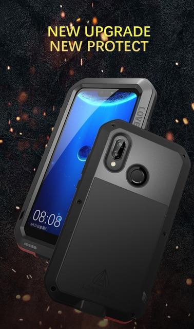 Gorilla glass film gift) LOVE MEI Metal Waterproof Case For Huawei P20 Lite 5.84 Shockproof Cover For huawei Nova 3E cover capa